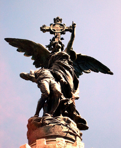 Monumento a los mártires de la Religión y de la Patria. Plaza de España de Zaragoza